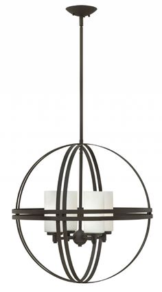 Atrium 3274BZ by Hinkley in BRONZE finish with Etched Opal glass