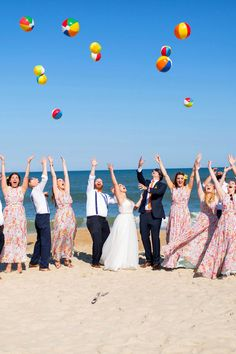Could a wedding party look any happier than this one?
