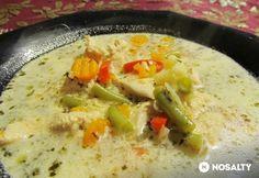 Tárkonyos zöldséges leves csirkemellel