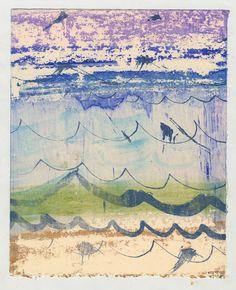 WAVES - Brooke Ann Inman. Screen monoprint