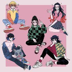Kimetsu no Yaiba sticker designs! Catch these babies at Sabo next weekend 💖💖 . Anime Meme, Manga Anime, Anime Guys, Anime Art, Demon Slayer, Slayer Anime, Oni Demon, Dark Fantasy, Character Art