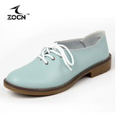 ZOCN 2016 Plus Size Genuine Leather Shoes Woman Flats Casual Shoes Oxfords Women Lace Up Moccasins Ballet Flats Zapatos Mujer  #instastyle #styles #model #ootd #streetstyle #beauty #fashionista #shopping #style #instafashion