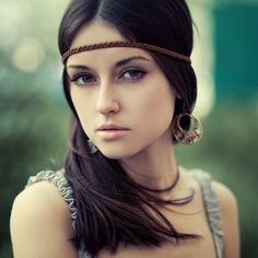 Hippy Chic- all you need is some leather, twine, or part of your hair for this style.