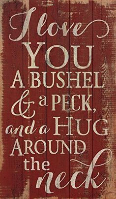 I Love You a Bushel and a Peck Distressed Red 24 x 14 Wood Pallet Wall Bedroom, Pallet Wall Shelves, Diy Pallet Sofa, Pallet Wall Art, Diy Pallet Projects, Pallet Ideas, Pallet Furniture, Wood Ideas, Kitchen Furniture