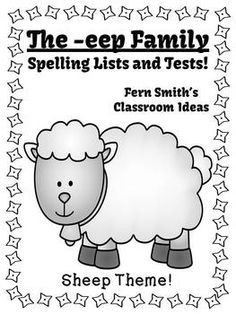 Spelling The -eep Family Word Work Lists & Tests #TPT $Paid #TeachersFollowTeachers #FernSmithsClassroomIdeas