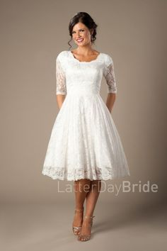 latter day bride tea length dress Quinn