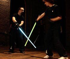 Lightsaber Combat Academy Anakin had Obi Wan, Luke. Darth Maul Lightsaber, Light Up Lightsaber, Star Wars Luke, Star Wars Jedi, Combat Robot, Star Wars Light Saber, Sword Fight
