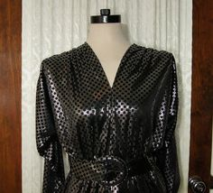 80s Silver Lamé Dress Metallic Vintage Disco by WhiteWaveVintage, $28.00