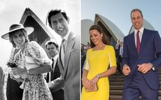 Kate Middleton And Prince William In Australia Compared With Prince Charles And Princess Diana 31 Years Ago (PICTURES)