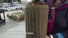 Needle Hitching using Marline Tarred Hemp on Antique Bottle