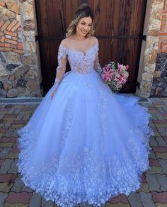 Fancy Wedding Dresses, Gorgeous Wedding Dress, Bridal Dresses, Wedding Gowns, Floral Wedding, Wedding White, 15 Dresses, Formal Dresses, Cheap Gowns