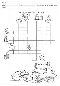 Atividades de Natal - Cruzadinha