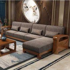 Corner Sofa Design, Sofa Bed Design, Living Room Sofa Design, Home Room Design, Living Rooms, Latest Wooden Sofa Designs, Wooden Sofa Set Designs, Modern Sofa Designs, Latest Sofa Set Designs