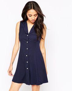 Image 1 ofLovestruck Charlotte Button Through Shirt Dress