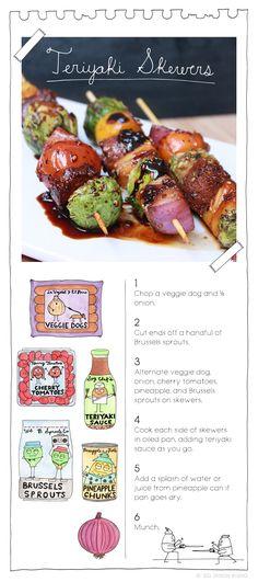 Teriyaki Skewers. More recipes at: TheVeganStoner.com