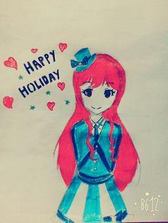 Anime holiday drawing•••2