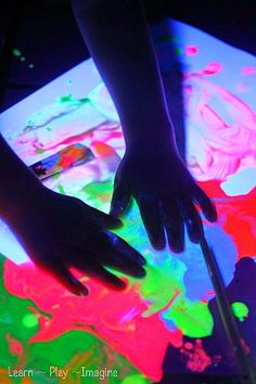 How to make GLOWING paint for a super cool painting experience in the dark!