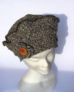 Cappello Berretto lana marrone sfumato : Cappelli, berretti di janecolori