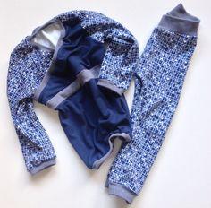Schlafanzug aus Westfalen Stoffen. Shirt Trotzkopf Schnabelina 10 min Leggings Mopseltrine