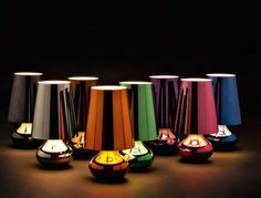 Cindy Table Light by Kartell, great colours