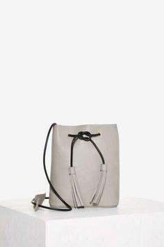 Paradigm Vegan Leather Bucket Bag - Gray | Shop Accessories at Nasty Gal!