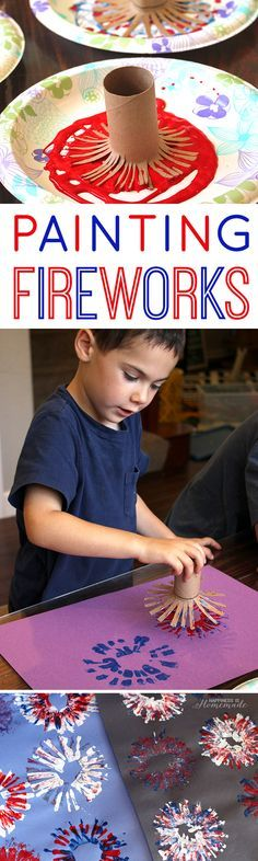 kids crafts of July kid's crafts ! of July Kids Craft: Fireworks Painting - Happiness is Homemade Patriotic Crafts, July Crafts, Holiday Crafts, Diy Pour Enfants, Firework Painting, Daycare Crafts, Toddler Art, Craft Activities For Kids, Educational Activities
