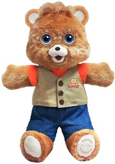 Teddy Ruxpin is coming back and he's got emoji-like eyes     - CNET  Enlarge Image  The new Teddy Ruxpin is coming in 2017.                                             Wicked Cool Toys                                          Oh sure kids of today laugh at our 1980s innovations. Just because Frogger on the Atari 2600 looks like it was drawn by a kindergartner and we actually watched Manimal todays Gen Zs think we were all loons. Well theyre right and theyre about to find out just how right…