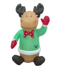 Take a look at this Reindeer Inflatable Light-Up Lawn Decoration by BZB Goods on #zulily today! $28 !!