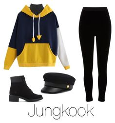 Cold day with Jungkook by infires-jhope on Polyvore featuring polyvore fashion style WearAll River Island Timberland Henri Bendel clothing
