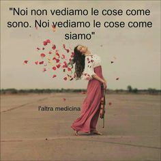 Noi non vediamo le cose come sono, noi vediamo le cose come siamo. (We do not see things as they are, we see things as we are)