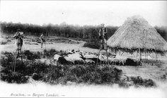 Bergers landais près du Bassin d'Arcachon, en Pays de Buch, à la fin du XIXe siècle