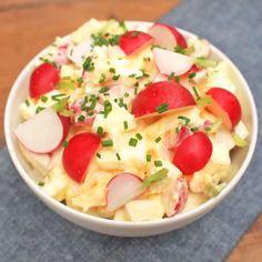 Ředkvičkový salát s vejci Cantaloupe, Potato Salad, Salads, Potatoes, Fruit, Ethnic Recipes, Food, Potato, Essen