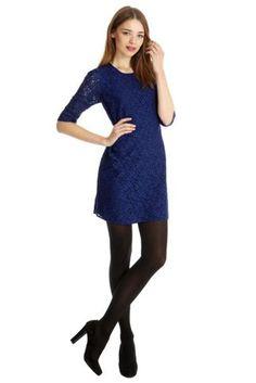 Oasis Ls lace shift dress Blue - House of Fraser