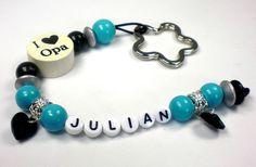 """Schlüsselanhänger """"I ♥ Opa"""" von baby name for u auf DaWanda.com"""