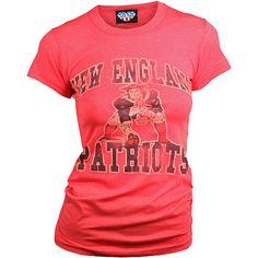 New England Patriots - Women's Short Sleeve Crew Red T-Shirt