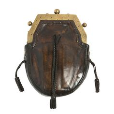 An early 20th century brass mounted sporran (2)