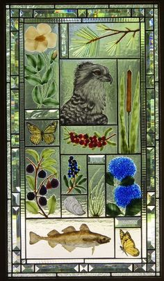 Faux Stained Glass, Stained Glass Panels, Fused Glass Art, Stained Glass Patterns, Mosaic Glass, Painting On Glass Windows, Glass Painting Designs, Animal Paintings, Oil Paintings