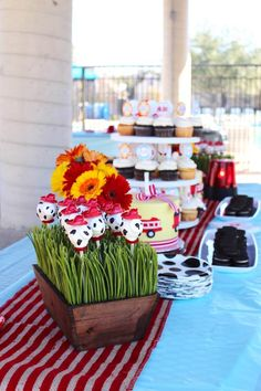 Dalmatian pops from Vintage Fireman Themed Birthday Party at Kara's Party Ideas. See more at karaspartyideas.com!