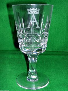 Royal Brierley PRINCE ANDREW & SARAH FERGUSON WEDDING Crystal Glass Limited Edit | eBay