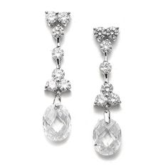 Bridal Earrings with Faceted Crystal Drops. This gorgeous CZ earrings are plated in high quality silver rhodium and are perfect for your wedding, prom or formal affair. Crystal Drop, Faceted Crystal, Swarovski Crystals, Vintage Earrings, Women's Earrings, Diamond Earrings, Crystal Earrings, Bridesmaid Accessories, Bridesmaid Jewelry