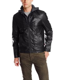 Navy Tommy Hilfiger Mens Smooth Lamb Touch Faux Leather Unfilled Bomber XL