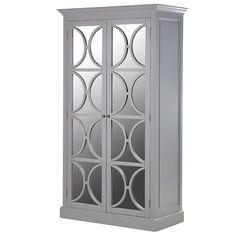 Grey Rivau Mirrored Wardrobe