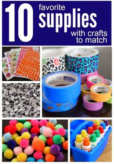 Toddler Approved!: 10 Favorite Supplies with Crafts to Match {+ Enter to WIN your #GREATLIST of School Supplies}