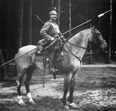 German uhlan during the First World War. Military Photos, Military Art, Military History, World War One, First World, Old World, Ww1 History, World History, Ww1 Soldiers