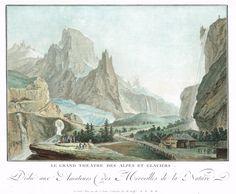 Le Grand Théâtre des Alpes et Glaciers - Aquatinte - gravure imprimée en couleurs par DESCOURTIS ou JANINET d'après Caspar WOLFF (1735-1798) - MAS Estampes Anciennes - MAS Antique Prints