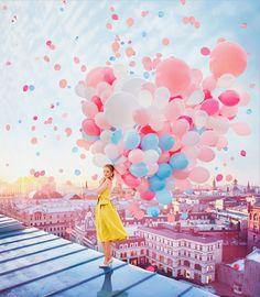 Farbenpracht – Kristina Makeeva und weit mehr als 99 Luftballons / Photo Boxed Cute Wallpapers, Wallpaper Backgrounds, Creative Photography, Portrait Photography, Magical Photography, Beauty Photography, Colour Photography, Artistic Photography, Colourful Balloons