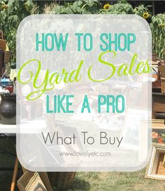A great list of things to look for the next time you go yard sale or thrift store shopping.  Never be unprepared again!