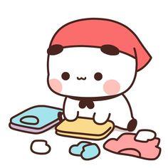 Cute Anime Cat, Cute Bunny Cartoon, Cute Kawaii Animals, Cute Couple Cartoon, Cute Cartoon Pictures, Cute Love Pictures, Cute Love Cartoons, Cute Anime Chibi, Cute Cat Gif