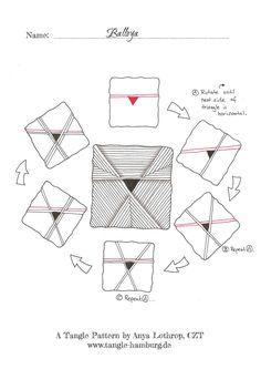 Balloya ~ a Zentangle #tangle by Anya Lothrop #CertifiedZentangleTeacher