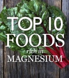 Top 10 Magnesium Foods - Are you Magnesium deficient? Top 10 foods rich in magnesium.